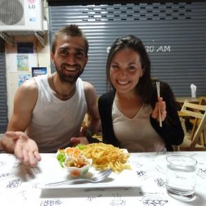 Spicy Fried Papaya Salad @ YinYang Restaurant