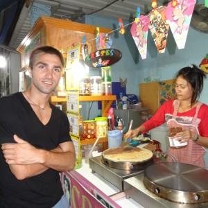 Streetfood Crepe mit Peanutbutter & Nutella @ Sairee Village